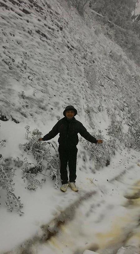 Tuyết phủ trắng ở Nghệ An như... châu Âu - ảnh 7