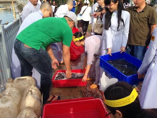 Phóng sanh hàng tấn cá trên kênh Nhiêu Lộc mừng Phật Đản - ảnh 5