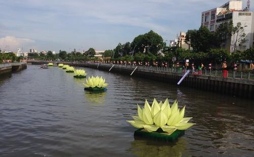 Phóng sanh hàng tấn cá trên kênh Nhiêu Lộc mừng Phật Đản - ảnh 11