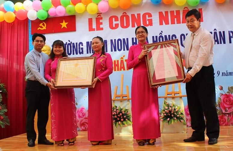 Trường mầm non Hoa Hồng đạt tiêu chuẩn chất lượng giáo dục - ảnh 1