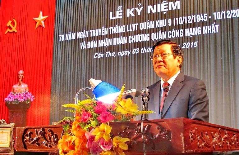 Chủ tịch nước trao huân chương Quân công hạng Nhất cho Quân khu 9 - ảnh 5