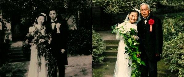 Cặp vợ chồng 98 tuổi tổ chức lại đám cưới sau 70 năm - ảnh 1