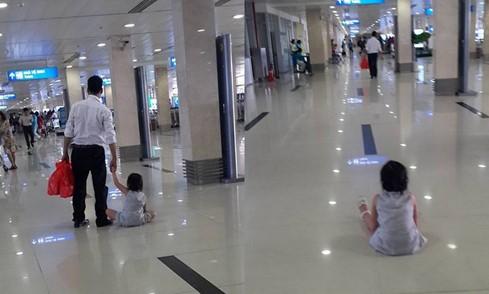 Xác minh lại thông tin bé gái bị bạo hành ở sân bay Tân Sơn Nhất - ảnh 1