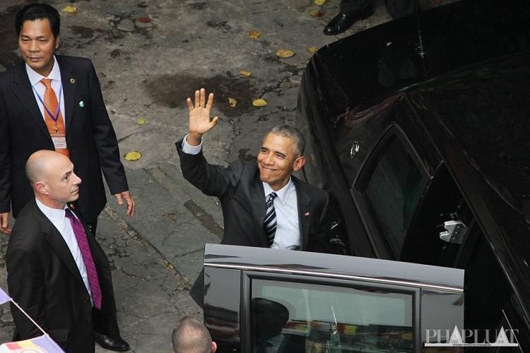 Tổng thống Obama kết thúc ngày làm việc đầu tiên tại TP.HCM - ảnh 13