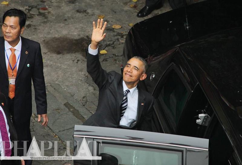 Tổng thống Obama kết thúc ngày làm việc đầu tiên tại TP.HCM - ảnh 14