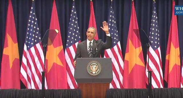Ông Obama phát biểu tại Hà Nội: 'Từ đây người biết thương người' - ảnh 2