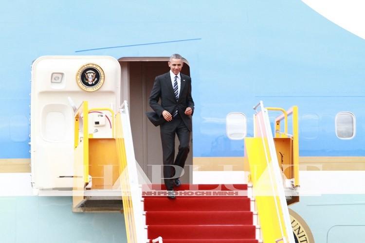 Tổng thống Obama kết thúc ngày làm việc đầu tiên tại TP.HCM - ảnh 2