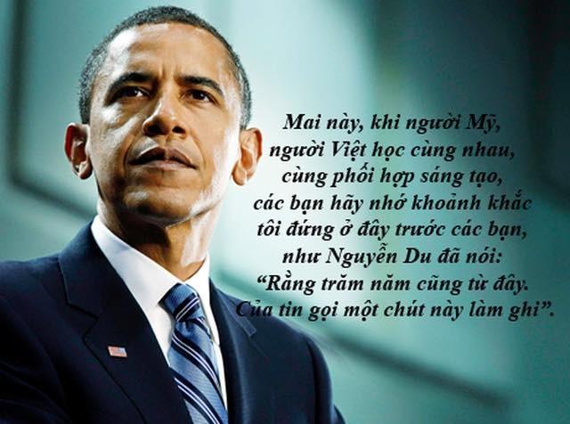 """Dấu ấn Obama qua những câu nói """"để đời"""" tại Việt Nam - ảnh 1"""