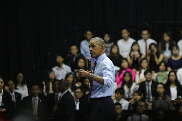 Tổng thống Obama kết thúc tốt đẹp chuyến thăm Việt Nam - ảnh 42
