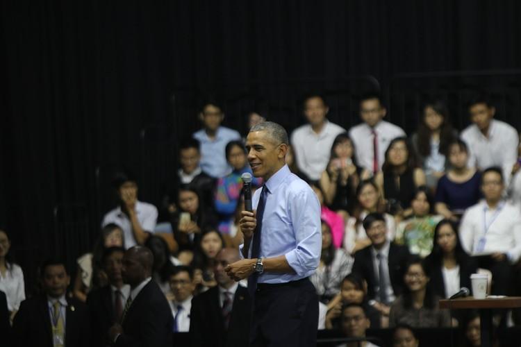 Tổng thống Obama kết thúc tốt đẹp chuyến thăm Việt Nam - ảnh 41