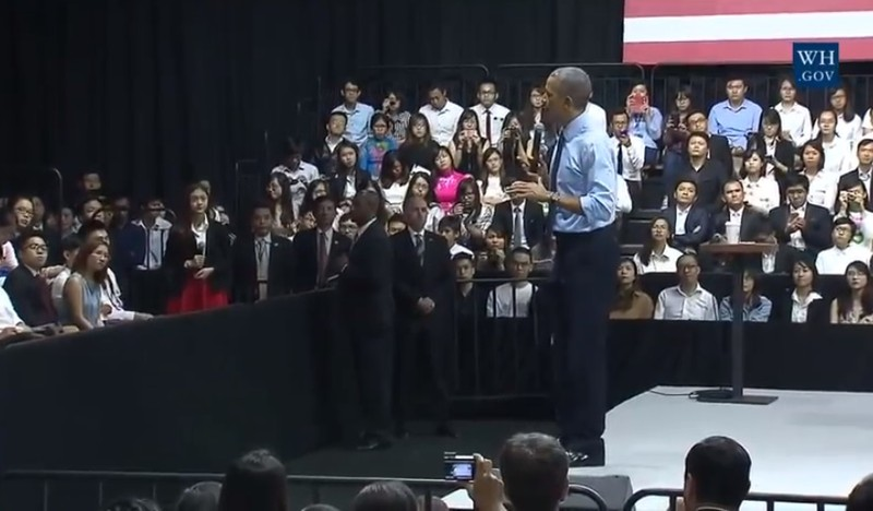 Tổng thống Obama kết thúc tốt đẹp chuyến thăm Việt Nam - ảnh 38