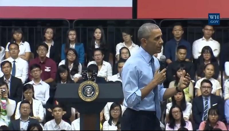 Tổng thống Obama kết thúc tốt đẹp chuyến thăm Việt Nam - ảnh 39