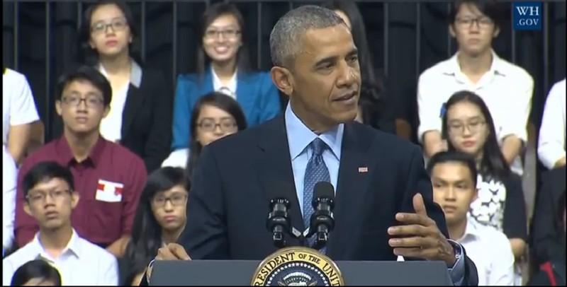 Tổng thống Obama kết thúc tốt đẹp chuyến thăm Việt Nam - ảnh 31