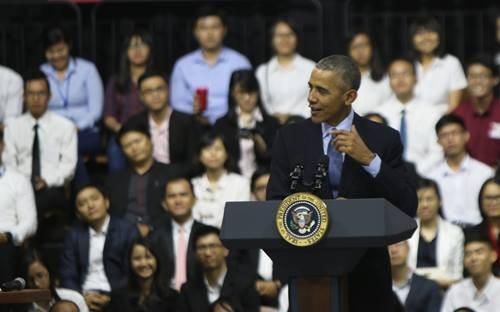 Tổng thống Obama kết thúc tốt đẹp chuyến thăm Việt Nam - ảnh 35
