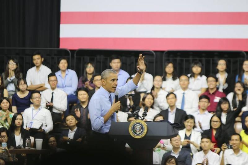 Tổng thống Obama kết thúc tốt đẹp chuyến thăm Việt Nam - ảnh 44