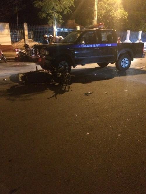 Xe cảnh sát 113 gây tai nạn chết người - ảnh 3
