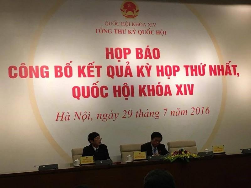 Tổng Thư ký QH: Bộ trưởng Trần Hồng Hà trả lời chưa rõ về Formosa  - ảnh 1