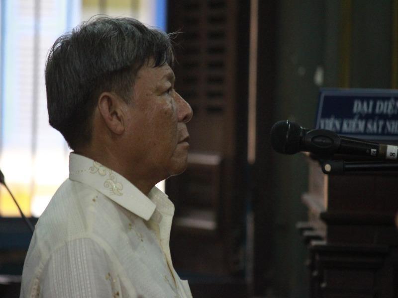 Nguyễn Minh Tân tại toà phúc thẩm chiều nay 14-9