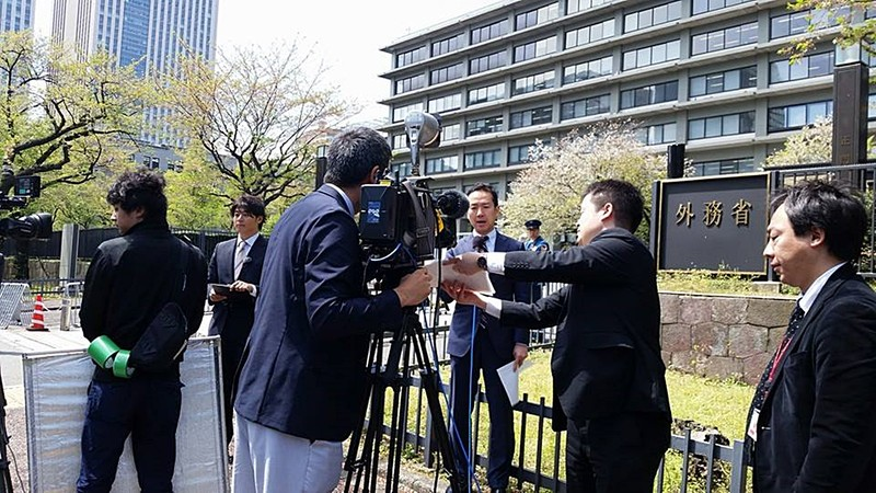 Đoàn làm phim TV Tokyo đang tác nghiệp tại Nhật Bản (TV Tokyo)