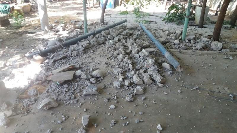 Ngã cột bê tông ở khu du lịch làm 2 người thương vong - ảnh 1