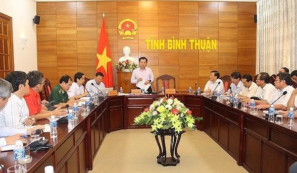 Bình Thuận cấm tàu thuyền ra biển từ 16 giờ chiều nay - ảnh 1