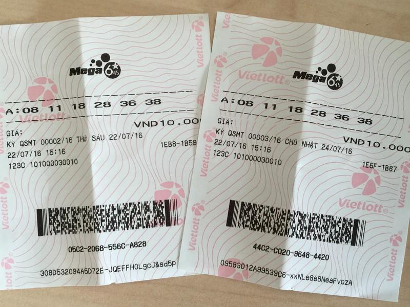 Khi mua nhiều kỳ, sẽ có nhiều vé Mega 645 cho từng kỳ, với số chọn giống nhau