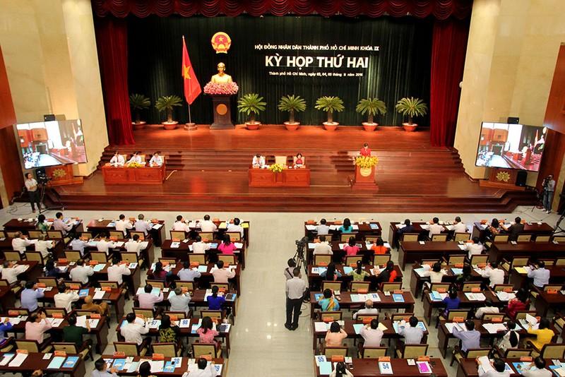 Toàn cảnh phiên khai mạc kỳ họp thứ 2 HĐND TP.HCM