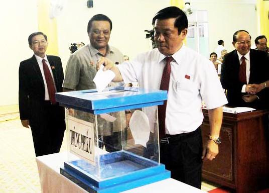 Bầu lãnh đạo chủ chốt tỉnh Bình Định