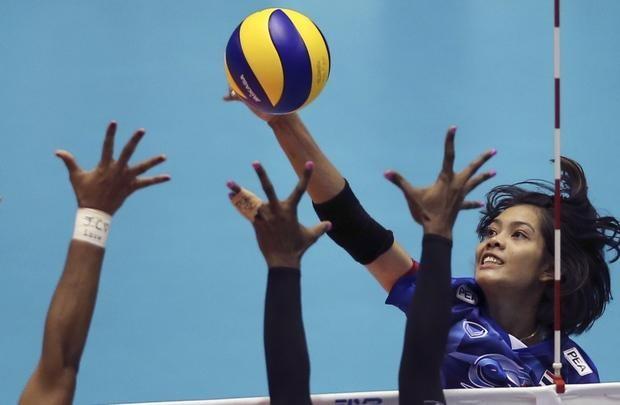 Bóng chuyền nữ Thái Lan lần đầu góp mặt Olympic - ảnh 1