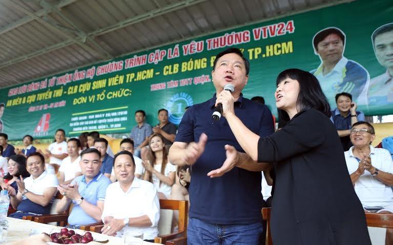 Ông Đinh La Thăng dự khán giải bóng đá từ thiện tại sân Tao Đàn - ảnh 5