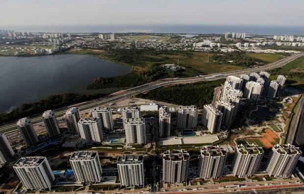 Làng Olympic Rio nhìn từ trên cao, nơi đón 18 ngàn VĐV và quan chức