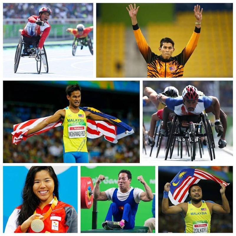 Hình những nhà vô địch Paralympic Rio của Đông Nam Á được tặng suất bay miễn  phí trọn đời đăng trên Facebook của tỷ phú Fernandez