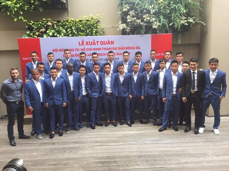 Tân binh V-League 2017 - CLB TP.HCM làm lễ xuất quân - ảnh 2
