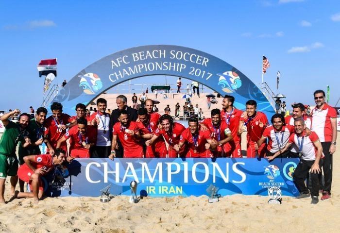 Bóng đá bãi biển, Iran cũng số 1 châu Á