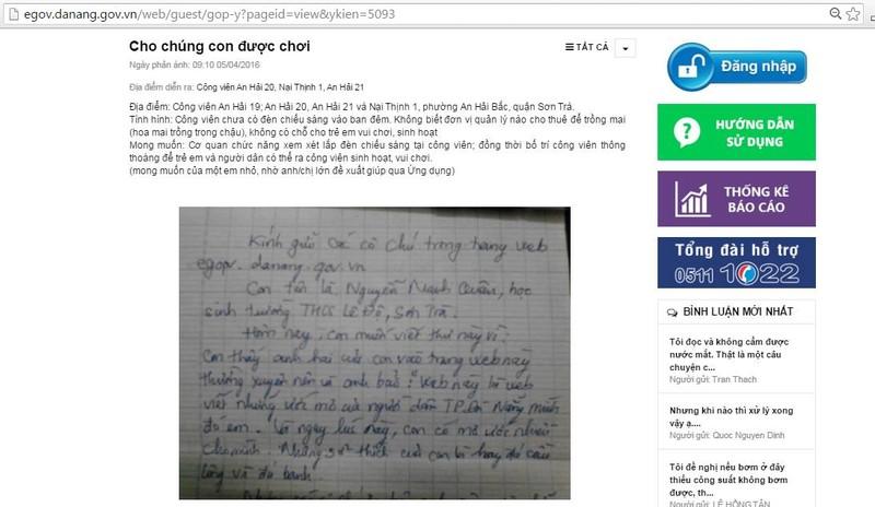 Học sinh gửi tâm thư, lãnh đạo Đà Nẵng giải quyết ngay - ảnh 1