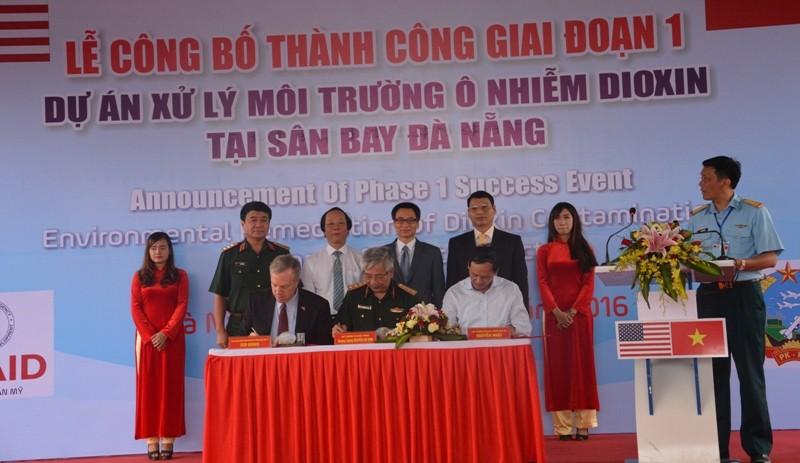 Xử lý xong 45.000 m3 đất nhiễm dioxin tại sân bay Đà Nẵng - ảnh 1