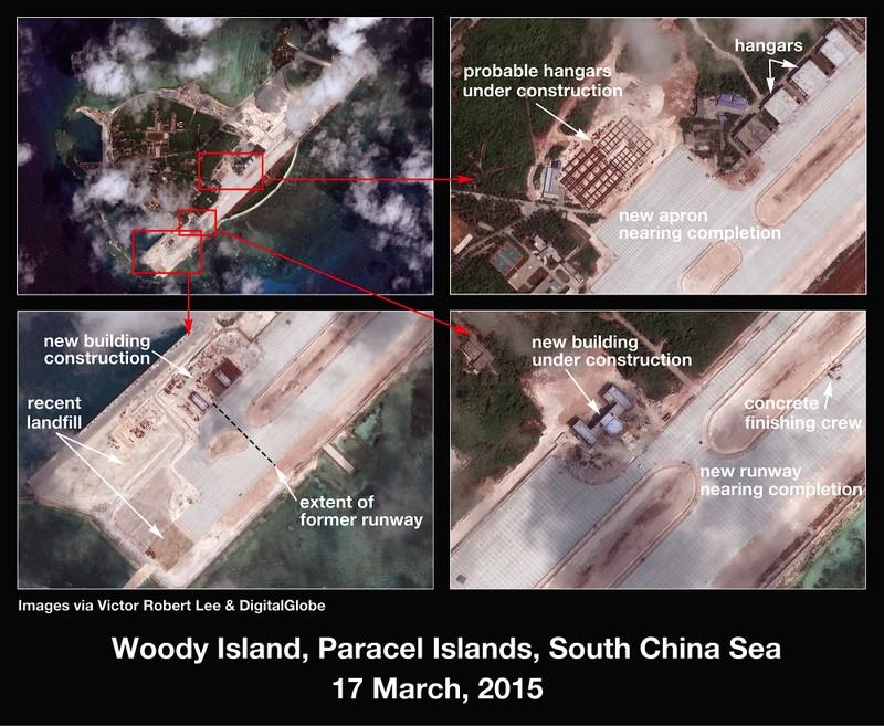 Trung Quốc cũng đang xây đảo nhân tạo trái phép tại Hoàng Sa - ảnh 1