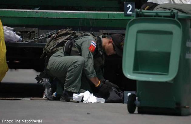 Lại nổ bom ở Bangkok, ba người bị thương - ảnh 1