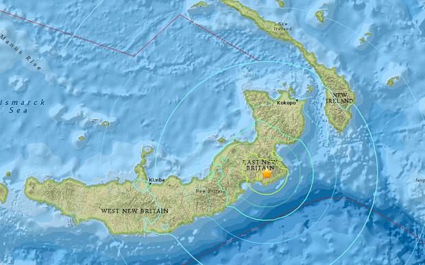 Động đất 7.1 độ ở Papua New Guinea - ảnh 1