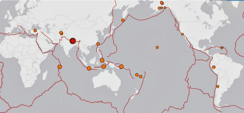 Trong 24 giờ qua, thế giới có đến 31 trận động đất - ảnh 1