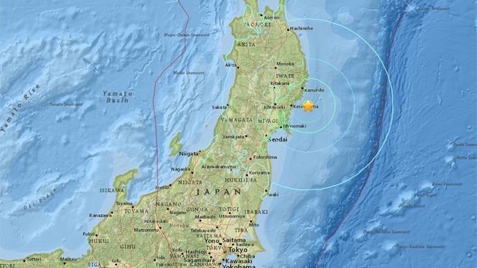 Động đất 6.8 độ richter làm chấn động Nhật Bản - ảnh 1