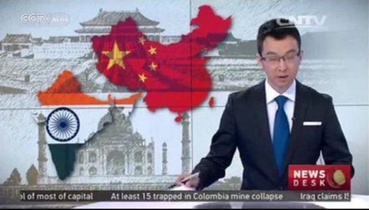 Truyền hình Trung Quốc 'lỡ tay' sửa bản đồ Ấn Độ - ảnh 1