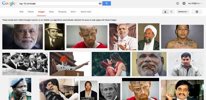 Google xin lỗi vì Thủ tướng Ấn Độ lọt danh sách tốp 10 tội phạm - ảnh 1