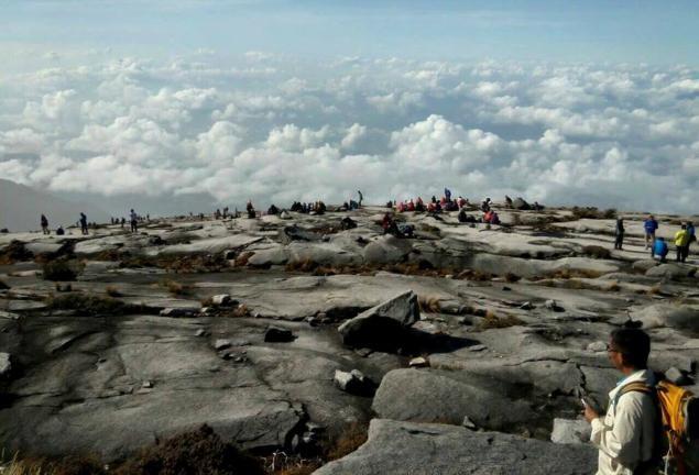 130 người kẹt lại trên ngọn núi lớn nhất Đông Nam Á - ảnh 1