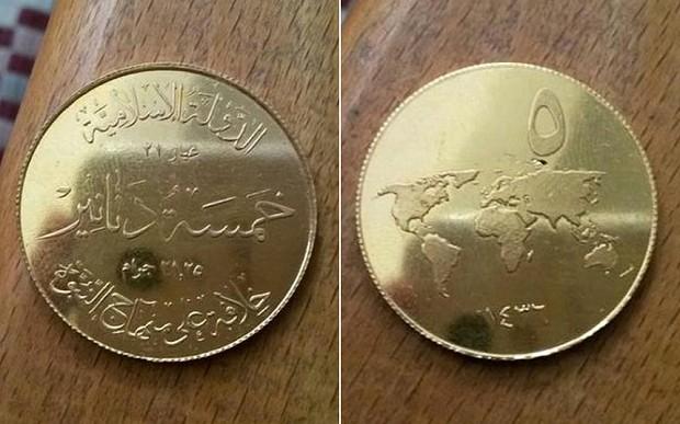 Đồng tiền vàng của IS chính thức lộ diện - ảnh 1
