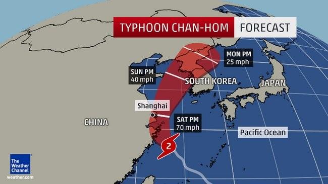 Hình ảnh của 'bộ ba siêu bão' ập vào Trung Quốc - ảnh 1