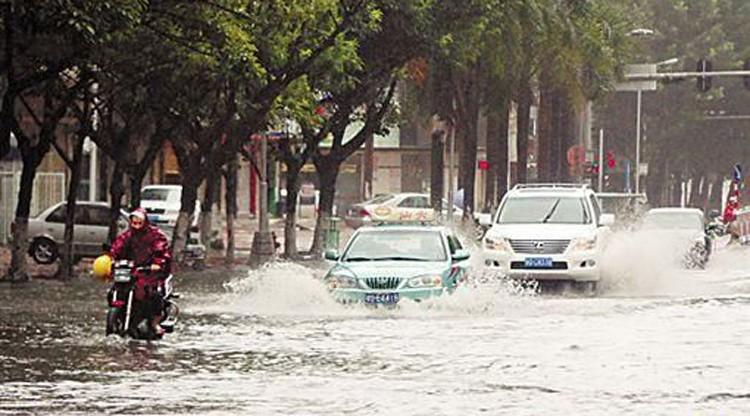Hình ảnh của 'bộ ba siêu bão' ập vào Trung Quốc - ảnh 7