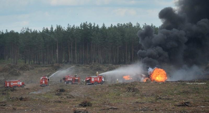 Trực thăng Mi-28 rơi ở triển lãm hàng không Nga - ảnh 1