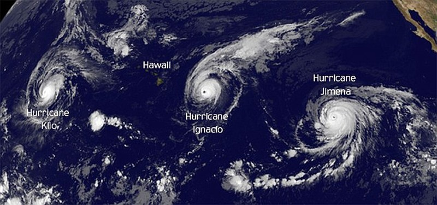 Thái Bình Dương lần đầu tiên xuất hiện cùng lúc ba siêu bão - ảnh 3