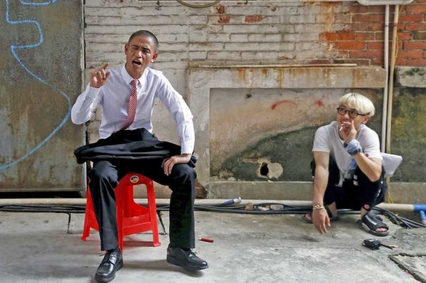 Nam diễn viên Trung Quốc y hệt tổng thống Obama - ảnh 3